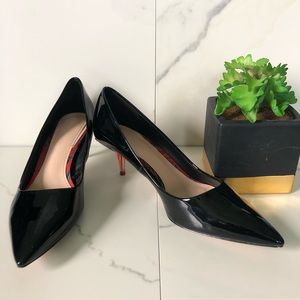 Zara Black Pointed Toe with Red Heels